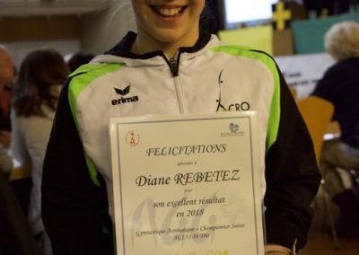 Diplôme Championne Suisse 2018